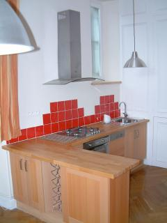 Part of the well-equipped kitchen