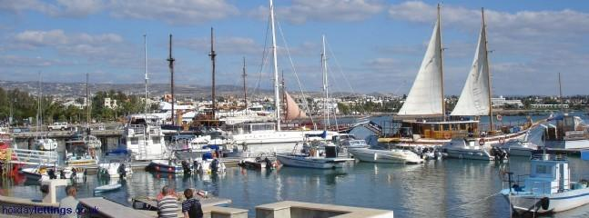 Paphos harbour, short walk away and full of bars and restaurants.