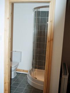 The shower room off the ensuite bedroom