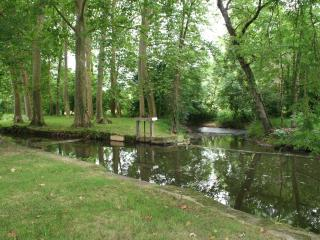 The River Cole running through the Domaine