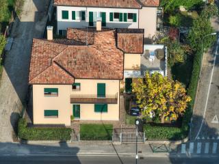 Vista dall'alto della casa
