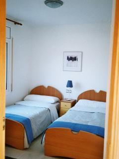 2 Twin Bedrooms, one will also accommodate a Cot