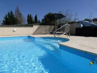 Crystal clear, glass filtered, heated salt water pool.... Perfect all season long!