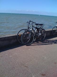 Bicycles and the sea are ever present on Ile de Re