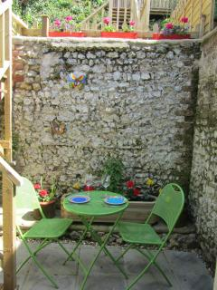 The courtyard, off the kitchen, and perfect for your al fresco breakfast