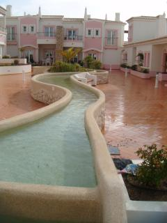 View across the courtyard from the pool