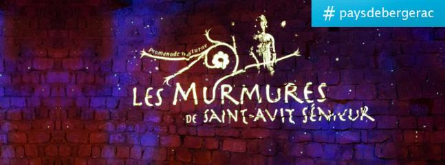 Les Murmures de Saint-Avit-Sénieur, balade nocturne gratuite, unique en Franceen milieu rural. Les