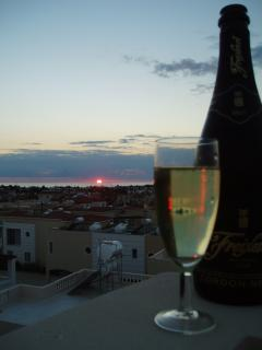 Champagne at Sunset!