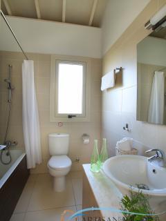 Upstairs bathroom. The door opens outside the children bedroom.