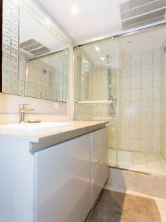 The shower room, washing machine