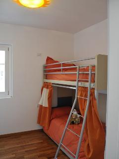 The singles bedroom