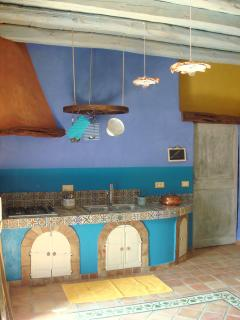 Old Rustic Kitchen with Moroccan Tiles
