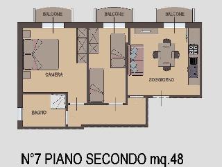 Appartamento Trilocale 2° piano, Rimini