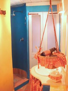 The Blue Round Shower Alcove