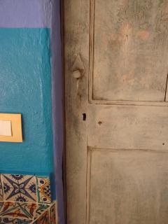 Detail: Recovered Original Door
