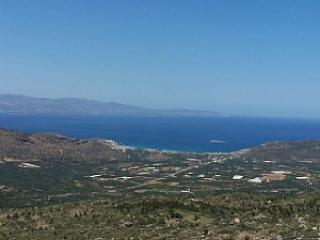 Amazing view over the Lassithi plane and the bay of Agios Nikolaos