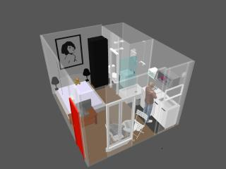 Here is the full 3D view of the flat