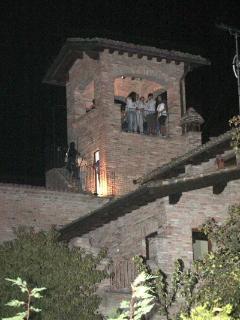 vista notturna della torretta