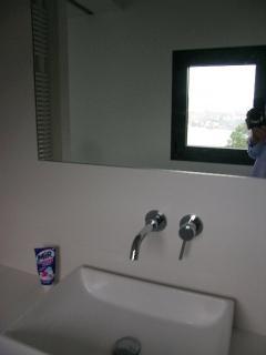 vue mer de la salle de douche