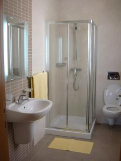 en-suite bathroom in one of the twin bed rooms