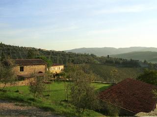 la capanna e le colline del Chianti