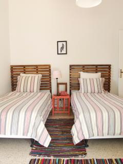 Twin bohemian room