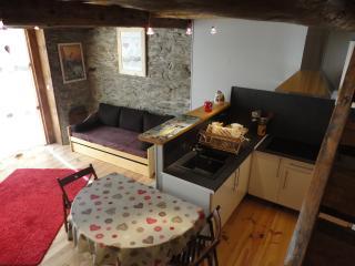 coté cuisine et le canapé gigogne pour les 2 couchages de 90X190