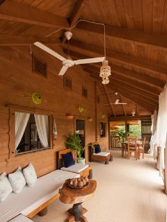 Veranda- with sea view and relaxing sofa