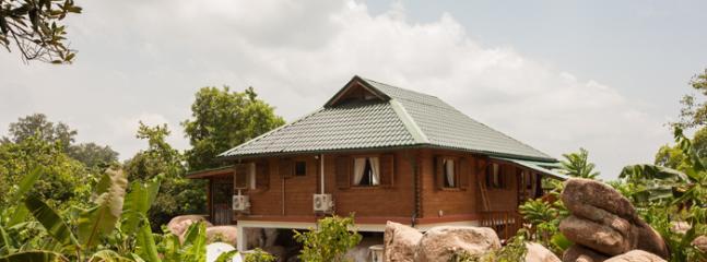 House- nestled naturally on granite rocks overlooking Indian Ocean