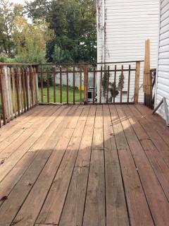 Big wood deck