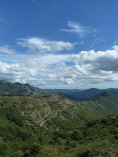 The long and winding road, which leads into the fabulous Caroux mountains.