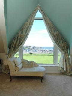 Master Bedroom Window with fabulous beach and sea views