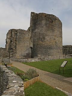 Cilgerran Castle - less than a minute's walk away!
