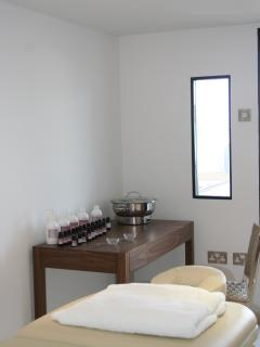 Roof terrace spa treatment room