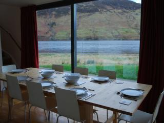 The dining area in Burnside - good view of the loch