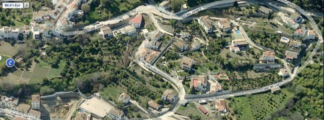 Aerial View showing position of house at the top left of the view