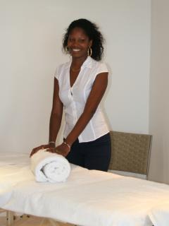 Yolanda, the villa's spa treatment therapist