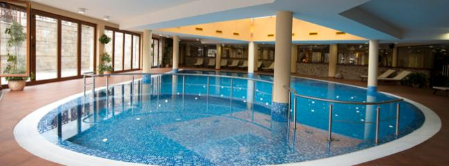 Have a swim in our heated indoor swimming pool, there is also a sauna, steam room, gym, plunge pool.