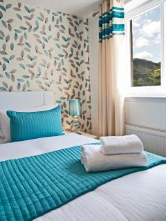 2nd. bedroom can be SUPER KING size or 2 Twins having hotel style zip and link beds,views at Arthur