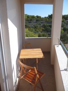 Balcony off second bedroom