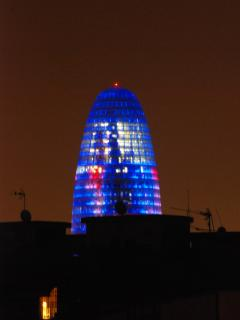 1,5 km-AGBAR TOWER PANORAMIC NIGHT VIEW