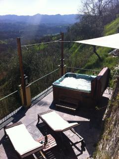 Jacuzzi on side terrace