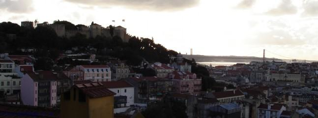 View of the castle from the Miradouro in Graca., 10 minutes from the house.