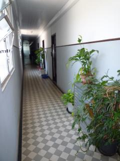 Corridor leading to entrance door