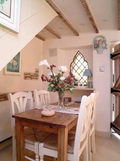 Intimate dining area