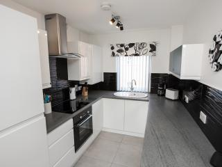 Luxury fully fitted kitchen with dishwasher, washer/dryer, fridge/freezer microwave etc.
