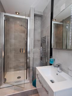 Luxury fully tiled shower room