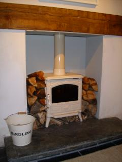 Log burner. Ideal for a cosy night in.