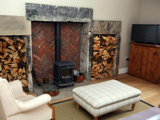 Wood-burning stove, perfect for cosy nights in.