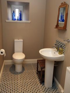 Our luxury shower-room with large walk-in shower and under-floor heating.